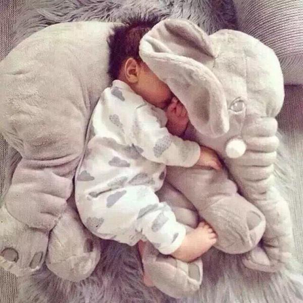 Grils için çocuklar için bebek uyku bebek hediye ile fil Peluş oyuncak Peluş bebek Yumuşak oyuncak fil yastık
