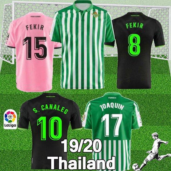 En 2019 2020 Kraliyet Betis futbol forması Juanmi maillot de ayak FEKIR JOAQUIN futbol forması gerçek Betis 19-20 camiseta de futbol Setleri