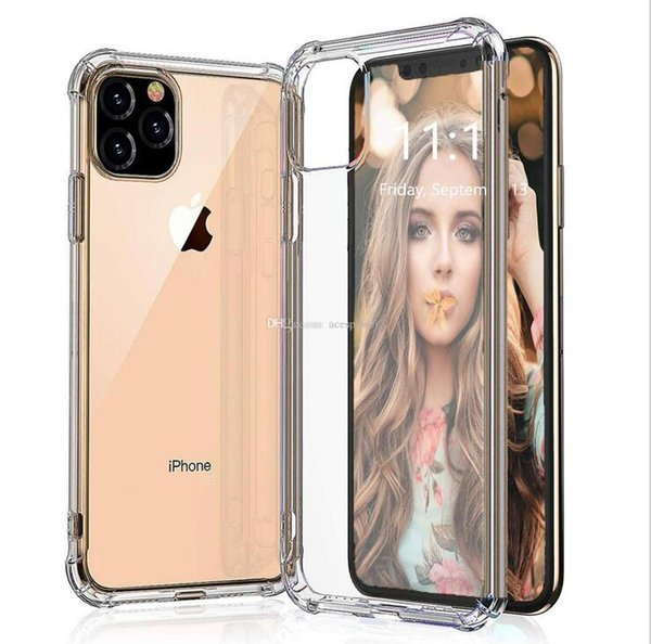 for iphone 11 pro max xr xs shockproof tpu case clear for samsung galaxy s10 plus s9 note 10 soft cover 1mm thickness phone case