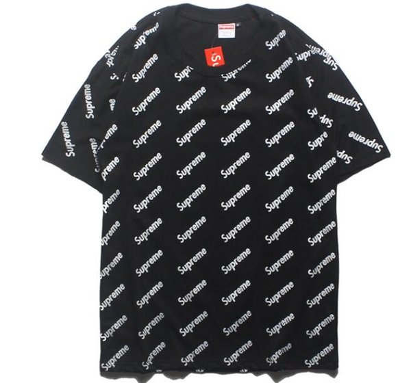 Yeezus uomo / donna magliette nuovo design pesce rosso ricamo t-shirt di marca cotone di alta qualità nuovo o-collo manica corta da uomo t-shirt