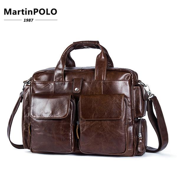 Luxury Genuine Leather Briefcase Men Briefcase Leather Laptop Bag Portfolio Men Business Bag Male Document Office