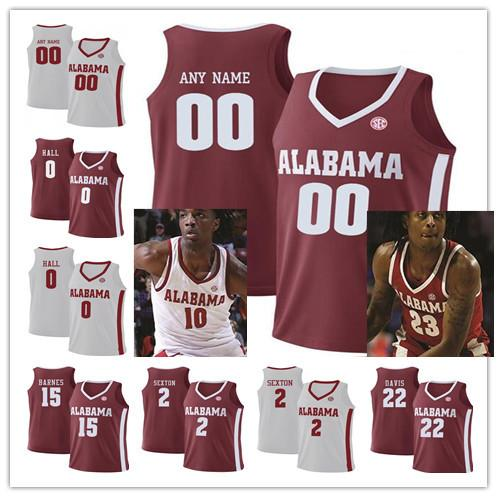 buy online 7c7d5 eb000 2019 Customize 10 AJ McCarron Alabama Crimson Tide 23 John Petty Stitched  Customize Mens Youth Womens Red White College Basketball Jersey From ...