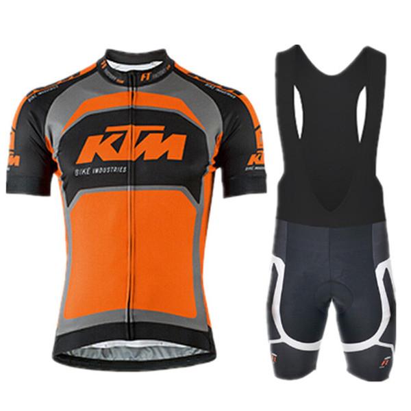 KTM team summer Cycling jersey Mens Short sleeve tops Bicycle Clothing Bib Shorts Sets bike Racing sport Cycling clothes Q71125