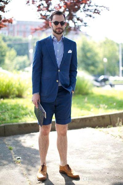 Blue Slim Fit Suit Separates for Men Custom Made Men's Causal Tailcoat Simple Modern Wedding Tuxedo