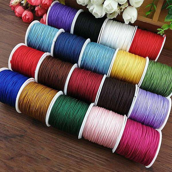 45 m//Roll Nylon Cord Thread Chinese Knot MACRAME Cordon Bracelet Tressé Chaîne