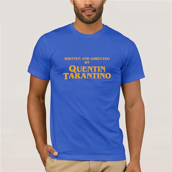 3c1b542c8 Written and Directed by Quentin Tarantino Film Movie Pulp Fiction Django  Kill Bill 2 John Travolta Fashion T shirt men tops tees