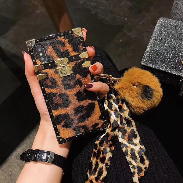 balle cheveux Leopard show Design Téléphone pour l'iphone 11 cas Pro MAX Rouge Tpu Anti Fall Back couverture pour l'iphone 6/7/8 plus XS XR