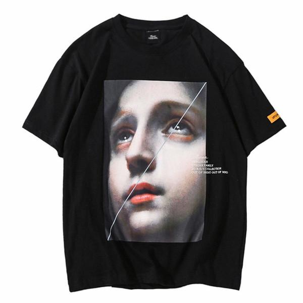 Hombres Harajuku Camiseta Funny Little Girl Hip Hop Camisetas Streetwear 2019 Verano Camiseta de manga corta Tops de algodón Camisetas Negro blanco