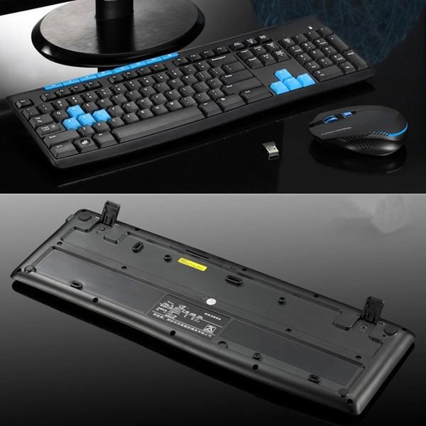 Neue heiße Wireless Gaming Tastatur Maus Combo 2.4G Mäuse Mechanische Multimedia Set für Computer PC NV99