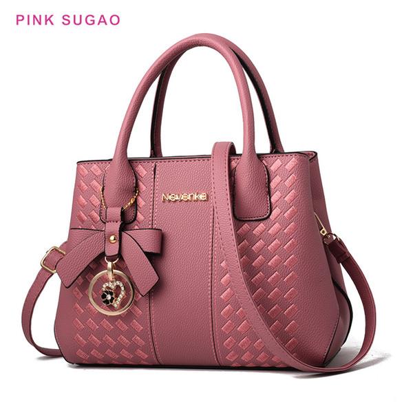 Pembe Sugao tasarımcı omuz crossbody çantası kadın yeni moda çanta lüks çantası sıcak satış vahşi omuz çantası pu deri çanta