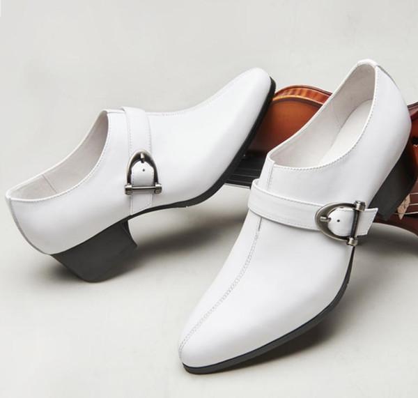 Erkekler Yüksek Topuklu Hakiki Deri Ayakkabı Erkekler Yükseklik Increasin İş Elbise Ayakkabı Marka Tasarımcısı Moda Trendi Rahat Parti Ayakkabı