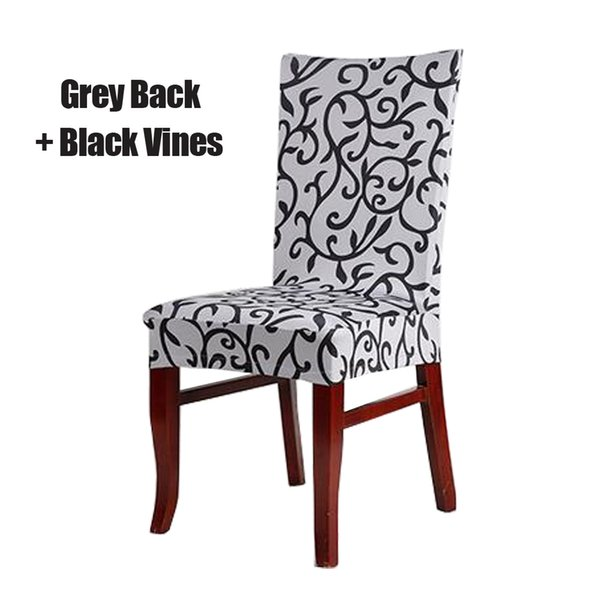 Grey and Black Stretch Chair Cover