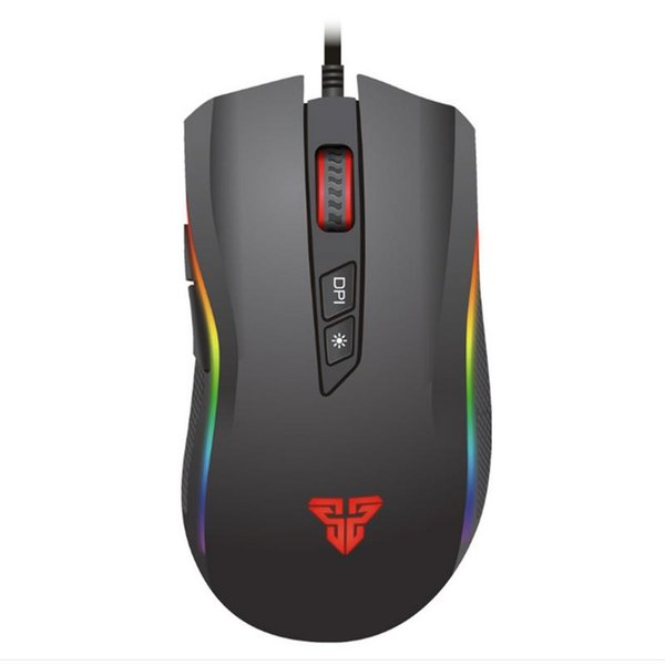 FANTECH X4S For Titan 4800dpi Custom RGB Gaming Mouse 5.200-4800DPI Photoelectric 7 Keys Gaming Mouse