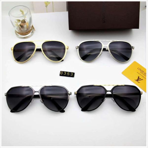 Designer Sonnenbrillen Luxus Sunglasses1 Fashion Brand für Frau Glas Rechteck Fahren UV400 Adumbral mit Box G2974 5 Farbe Hohe Qualität