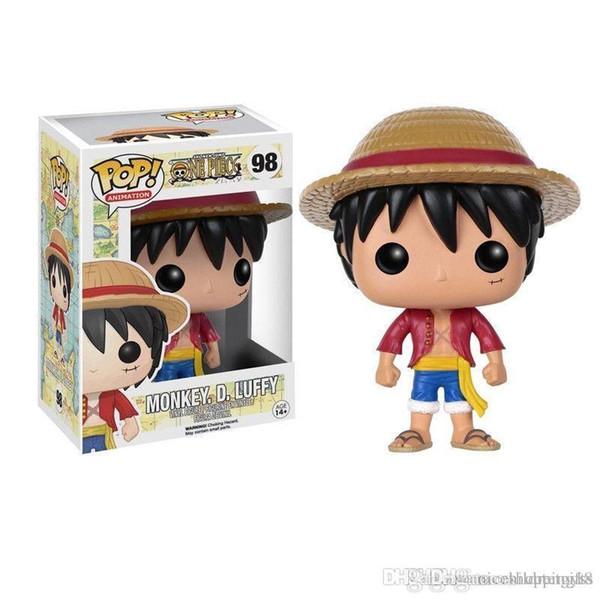 Oldukça Funko POP One Piece. D. LUFFY Ile Vinil Action Figure Kutusu # 202 Popüler Oyuncak Ücretsiz Kargo çocuklar hediye