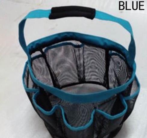 8 Bolso De Malha Chuveiro Caddy Tote Eco Friendly Com Lidar Com Saco de Lavagem De Plástico Dobrável Cestas De Armazenamento De Quatro Cores 2018121505