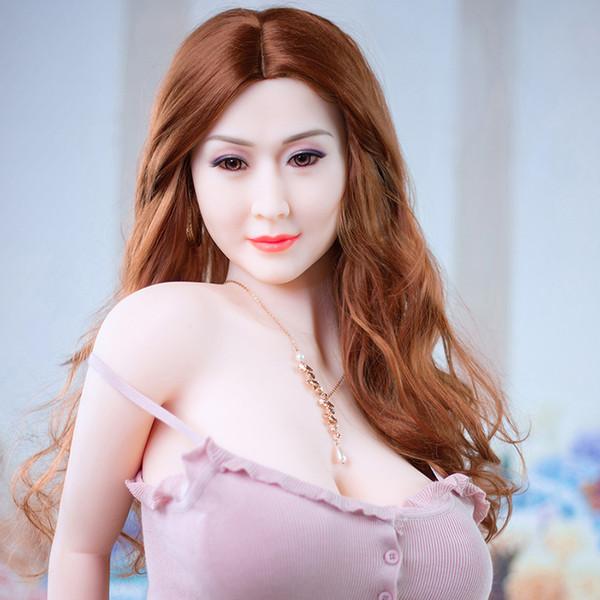 Real Sex Doll asiatique pour les hommes 170cm réalistes doux et naturels de la peau Sex Toys avec 3 trous vagin anale orale