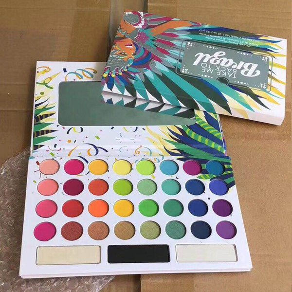 top popular 2019 Top Item New Arrival 35 Color TAKE ME BACK TO BRAZIL EyeShadow Palette Free DHL shipping 36pcs 2021