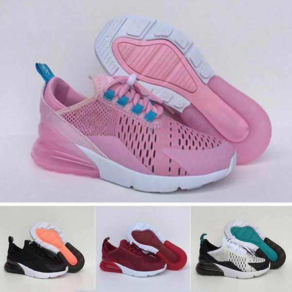Compre Nike Air Max 270 2019 NUEVOS Zapatos Atléticos Para Niños Zapatos De Baloncesto 270 Para Niños Wolf Grey Toddler Sports Sneakers Para Niños