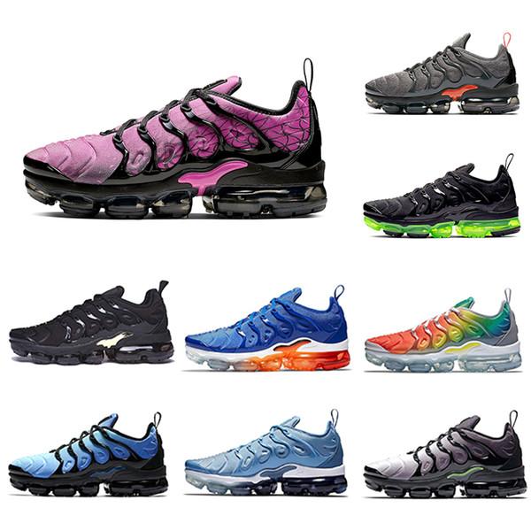 Aktif Fuşya Megatron Limon Kireç Gökkuşağı TN Artı Yastık Koşu Atletik Ayakkabı Oyunu Kraliyet HYPER AÇıK Tasarımcıları Spor Sneakers 36-45