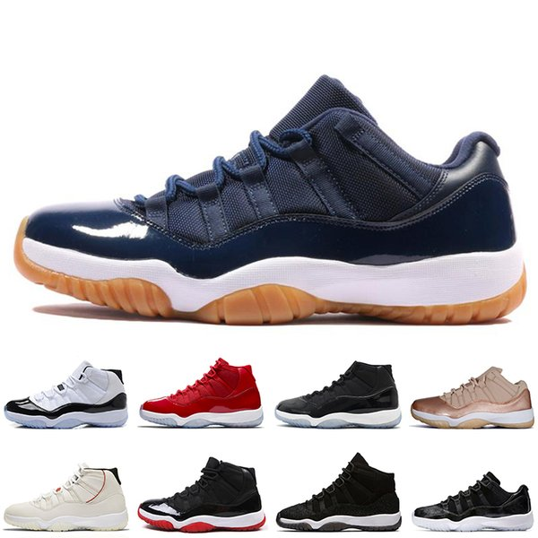 Hot Gym Red Concord 45 23 men Basketball Shoes 11 11S Bred Prom Night Platinum Tint Low Barons mens Sport Sneakers trainers designer