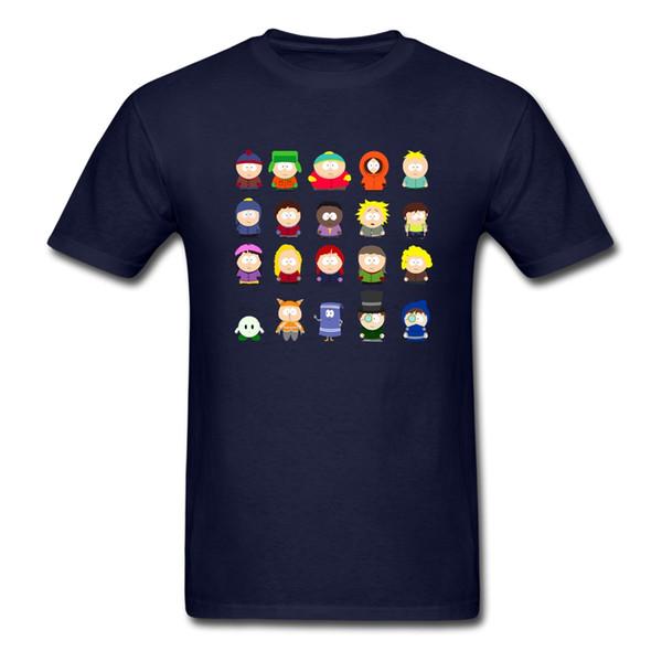 사우스 파크 캐릭터 성인 T 셔츠 홈웨어 맞춤 제작 루스 티셔츠 사우스 파크 남성용 반소매 티셔츠 아빠 옷