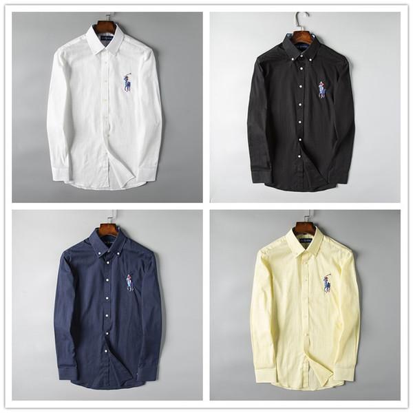 pretty nice fd1ab d88e8 Großhandel Italienische Marke Solide Casual Leinen Männer POLO Shirts  Herren Langarm Hemden Baumwollhemd Männer Hemd Plus Größe Slim Fit Homme  Von ...