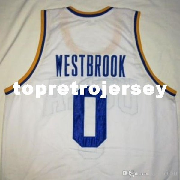 finest selection d9a50 df2a3 2019 Cheap Custom RUSSELL WESTBROOK UCLA Bruins White Basketball Jersey  Embroidery Stitched Customize Any Size And Name From Xiaocai2017, &Price; |  ...