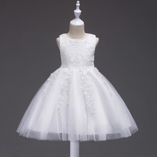Gonna per bambini europea e americana pizzo principessa ragazza abito festa di compleanno vestito gonna prima comunione abiti abito da festa