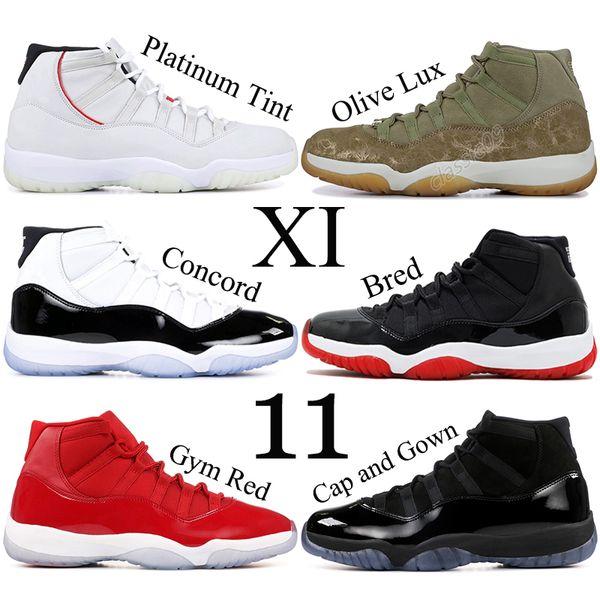 11 XI Uomo Scarpe da Basket Concord Designer Uomo Sneakers 11s Chicago Abito Cap e Abito Georgetown Barons Scarpe sportive US 5.5-13