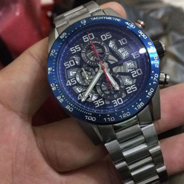 2018 neue mode luxus herrenuhren vk quarzwerk mann kleid uhren top-marke schwarz gun farbe casual sport armbanduhr