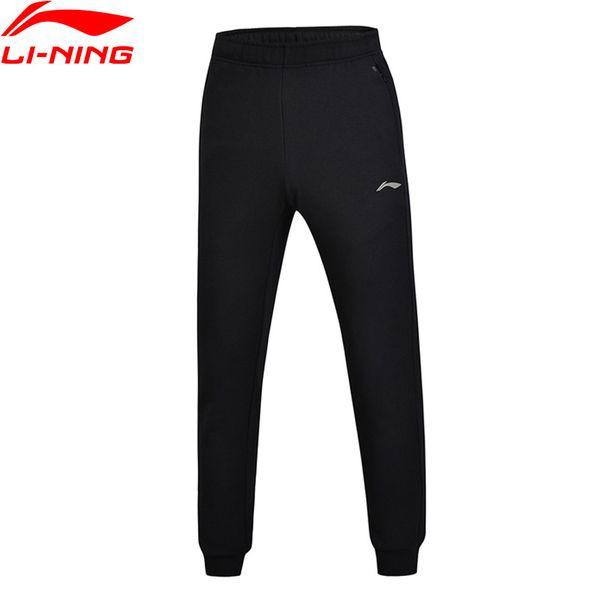 Men Training Series Sweat Pants Fleece WARM AT Regular Fit 62% Cotton 38% Polyester LiNing Sports Pants AKLM657 MKY332