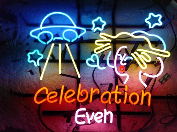Yeni Yıldız Neon Burcu Fabrika 19X15 Inç Gerçek Cam Beer Bar Birahane için Neon Burcu Işık Garaj Odası Kutlama Bile.