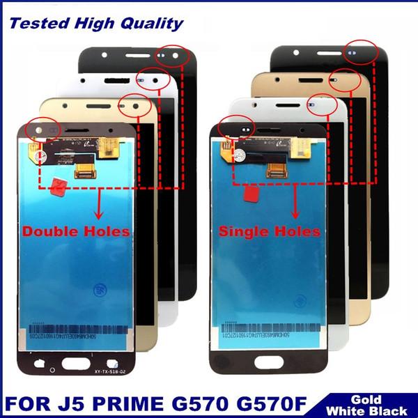 Para samsung galaxy j5 prime g570 g570f on5 2016 g5700 display lcd touch screen digitador assembléia única / furo duplo substituição
