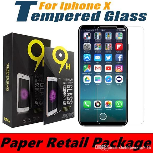 Für iphone xs max xr displayschutzfolie tempere glas lcd für iphone 5 s 6 s 7 s plus gehärtetem schutzfolie für huawei mate 20 pro brille
