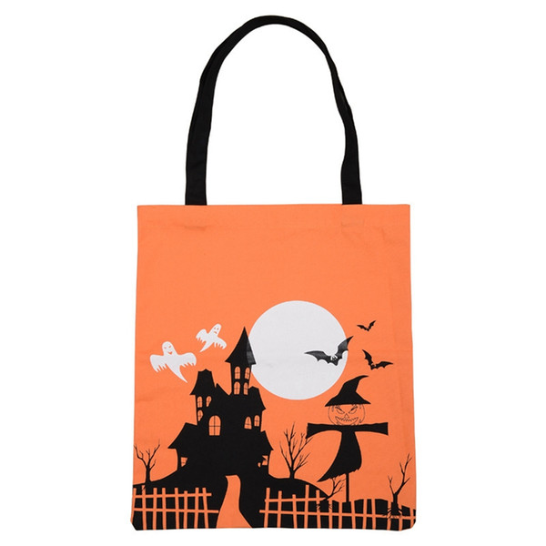 Kabak Şeytan Alışveriş Çantaları Çocuk Şenliği Hediyeleri Tote Çanta Halloween Party Dekorasyon Tuval materyali olarak yeniden Depolama Çanta TTA1841