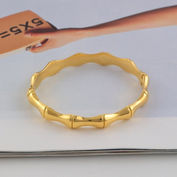 Trasporto di goccia Nuovi Braccialetti di Braccialetto romantico per le donne Braccialetto di polsino comune di bambù caldo Braccialetti delle donne di modo