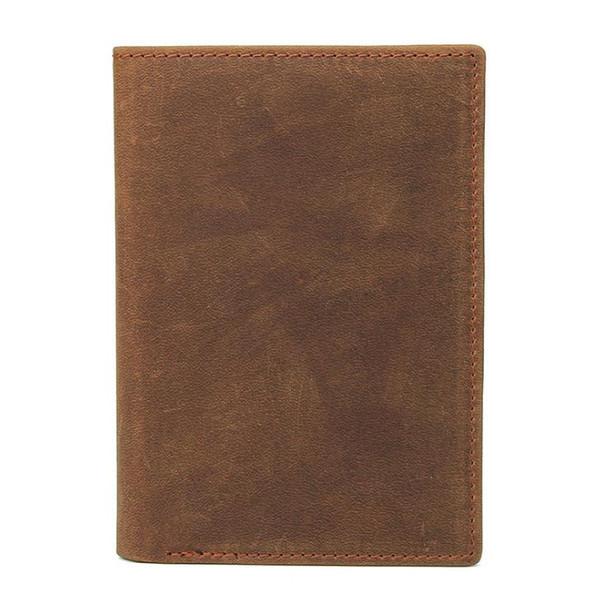 New Leather Passport clip passport bag Mad Horse skin retro boarding card, leather jacket, skinned passport bag