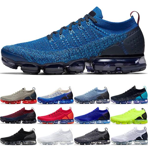Nike Air Vapormax 2.0 Designer 2.0 Hommes Femmes Chaussures De Course Olympique Rouge Orbite Royal Bleu Crimson Pulse Triple Noir Blanc Formateur Sport Sneakers Taille 36-45
