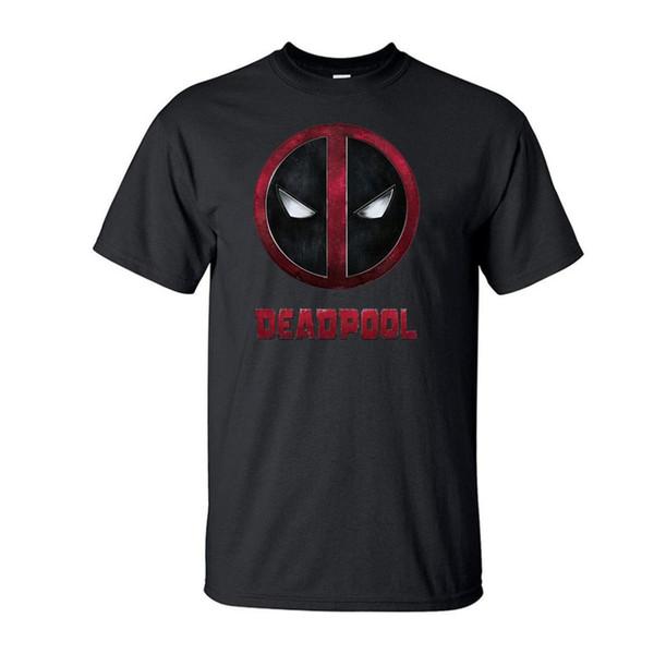 Deadpool Baskılı Erkekler Kısa Kollu Gömlek 2019 Yaz Siyah T-Shirt Rahat Hayranları Için% 100% Pamuk Pijama T Gömlek