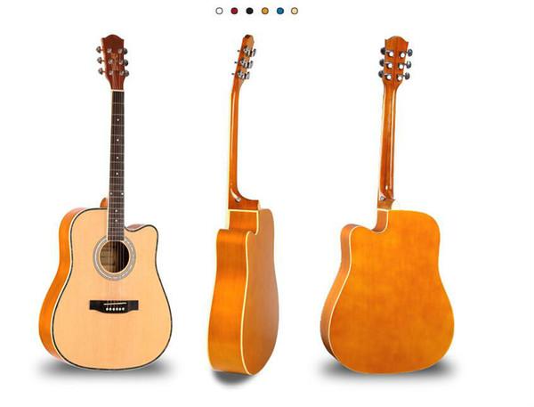 envío libre de la guitarra acústica de 41 pulgadas de abeto madera especial Nanyang luz práctica para principiantes guitarra instrumento retro raya del color