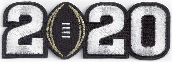 2020 white number Patch
