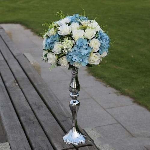 """3 color white silver gold 50cm 20""""metal vase stand candle holder candlestick wedding centerpieces decoration wedding photo booth props"""