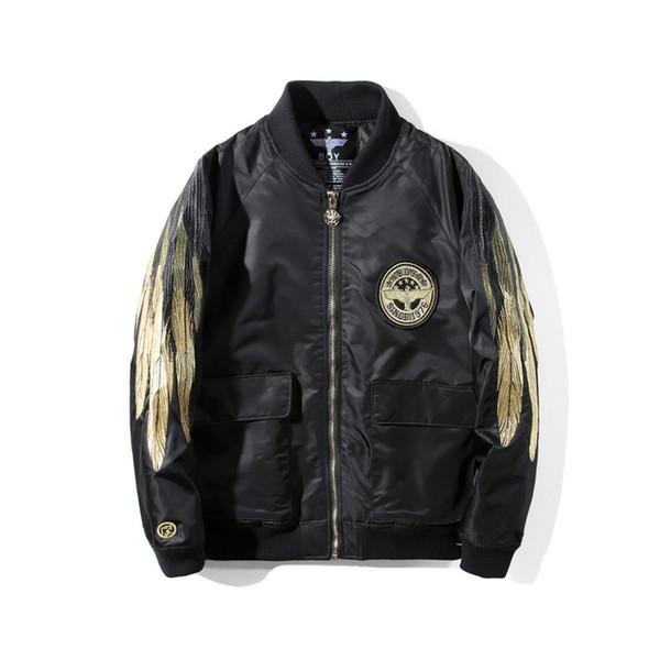 Garçon London Mens Designer Jacket Mode Mens Casual Vêtements De Luxe BOY Wing broderie Jacket 2 Couleurs Taille S-2XL