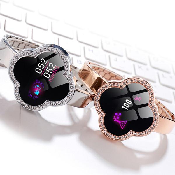 Heißer verkauf frauen smart watch s6 smart armband reloj blutdruck pulsmesser fitness tracker sport armband für android ios dame