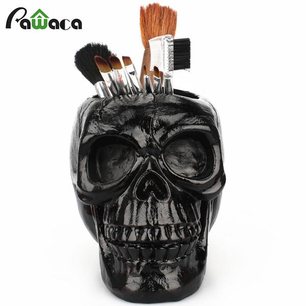 3d cranio testa figurine scheletro ornamento cancelleria titolare trucco contenitore di stoccaggio vaso di fiori scatola di gioielli ufficio arredamento per la casa Q190522