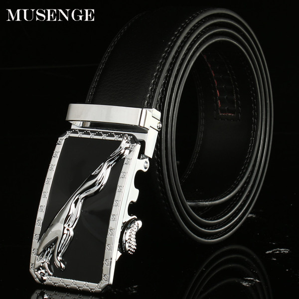 wholesale Designer Jaguar luxury genuine Leather men Belts For Men Ceinture Homme men's male Belt Automatic buckle Cinturon Hombre