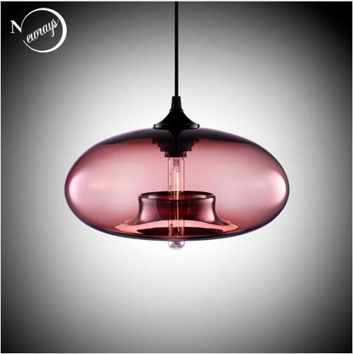 Nordic Modern loft pendurado 7 Cor lustre De Vidro Luminária Industrial decor Luzes Luminárias E27 / E26 para Cozinha Restaurante