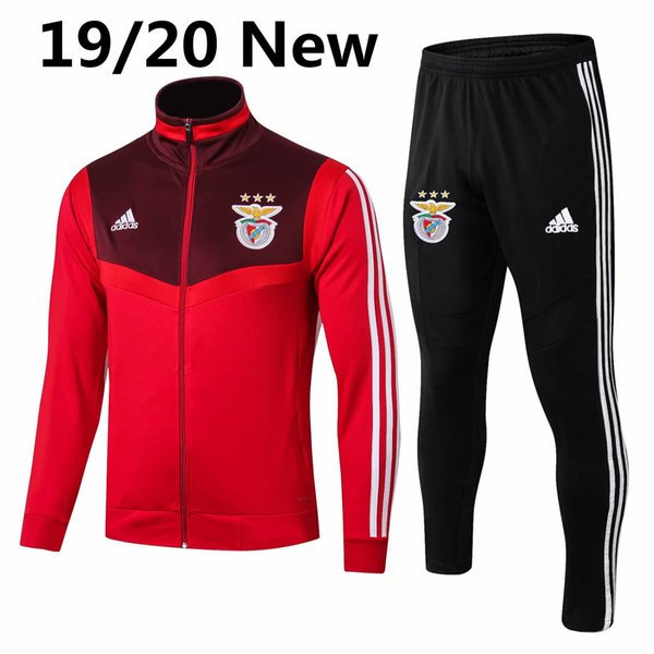 top popular Wholesale 2019-20 Benfica jacket Tomas long sleeve Caio tracksuit soccer jersey Seferovic football kits Pires training shirt sport jacket 2019