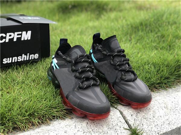 Son çıkan 2019 Hava Kaktüs Bitki Bit Pazarı x CPFM WMNS Eleman React Eleman 19 Buhar Erkek Koşu Ayakkabıları CD7001-300 Otantik Sneakers Boyut 7-13